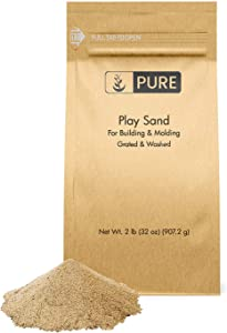 Pure Organic Ingredients Play Sand (2 lb),, Building & Molding, Promotes Creativity, Sandbox & Play Areas, Indoor/Outdoor, Eco-Friendly Packaging (Also in 5 lb & 25 lb)