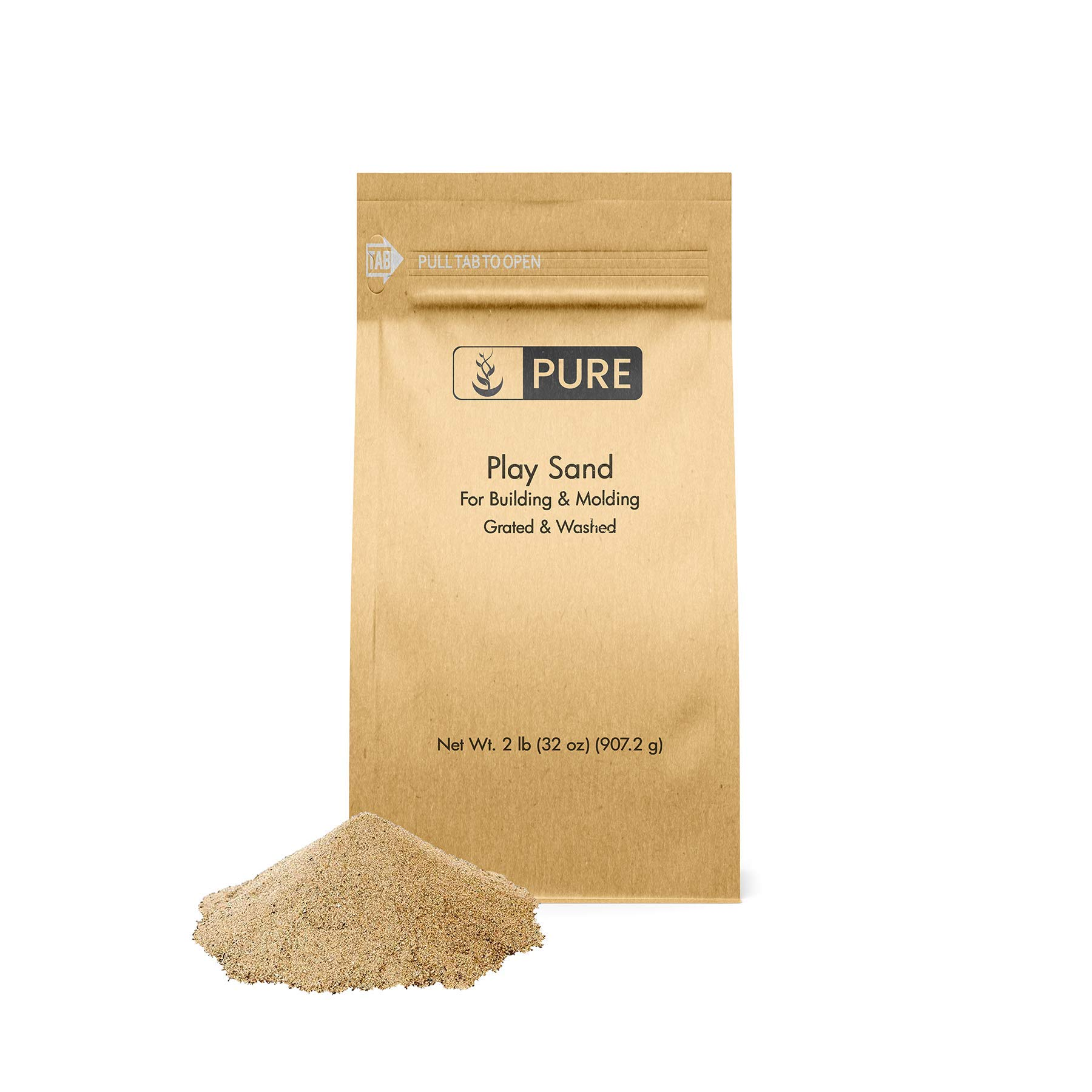 Pure Organic Ingredients Play Sand (2 lb),, Building & Molding, Promotes Creativity, Sandbox & Play Areas, Indoor/Outdoor, Eco-Friendly Packaging (Also in 5 lb & 25 lb) by Pure Organic Ingredients