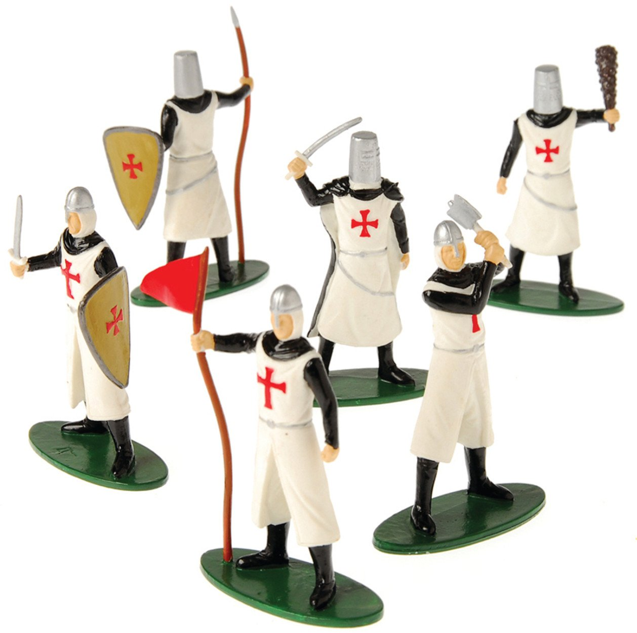 12 DELUXE TOY KNIGHT MEDIEVAL - CRUSADER PLAY FIGURES
