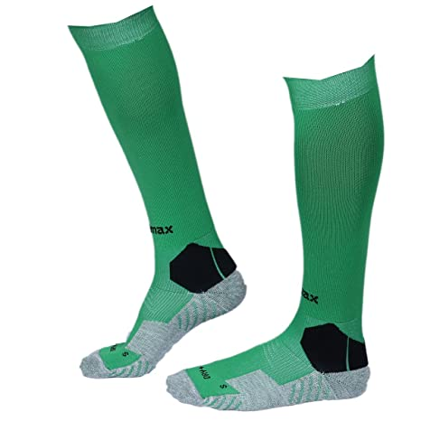 a323afebb KD Willmax Sports Socks Football Stocking Dry Fast Elite Unisex Knee High Striped  Sports Football Soccer Hockey Rugby Tube Socks for Men