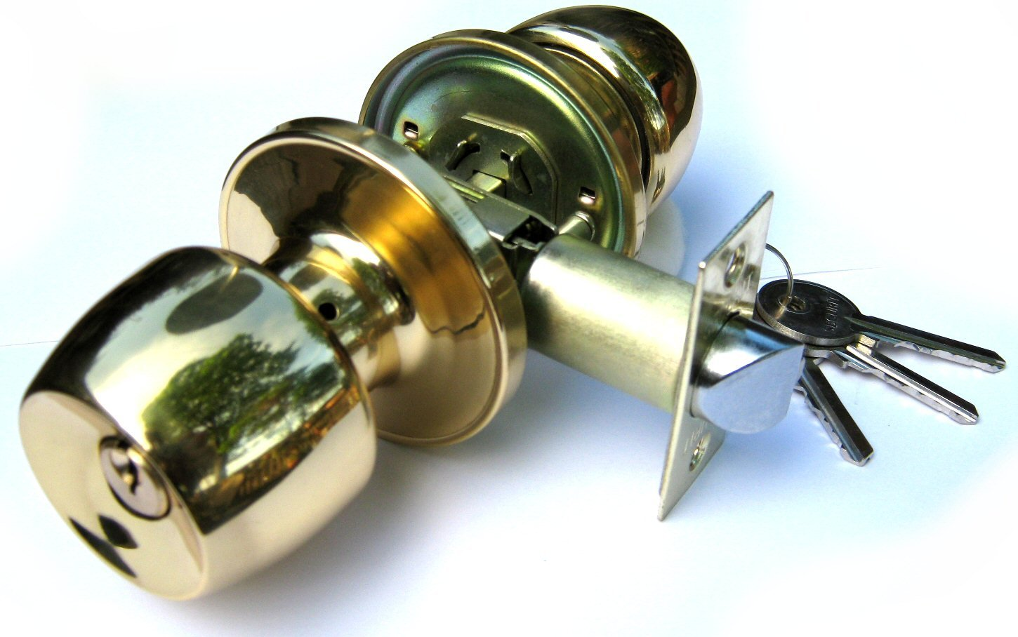 lock lockset with keys for bedroom entrance door knob lock set brass