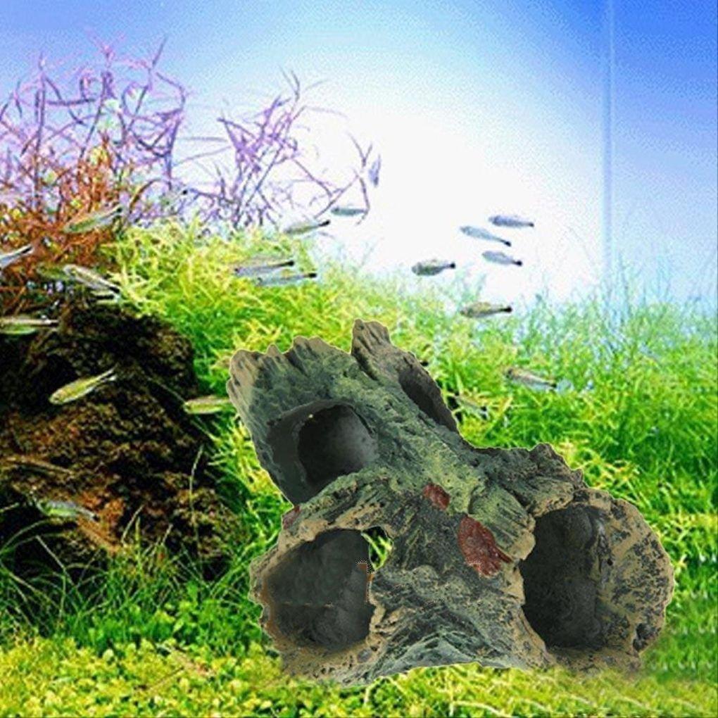 Topker Acuario Fish Tank Artesanía de resina Ornament Tronco Driftwood Cueva Decoración Madera Forma: Amazon.es: Hogar