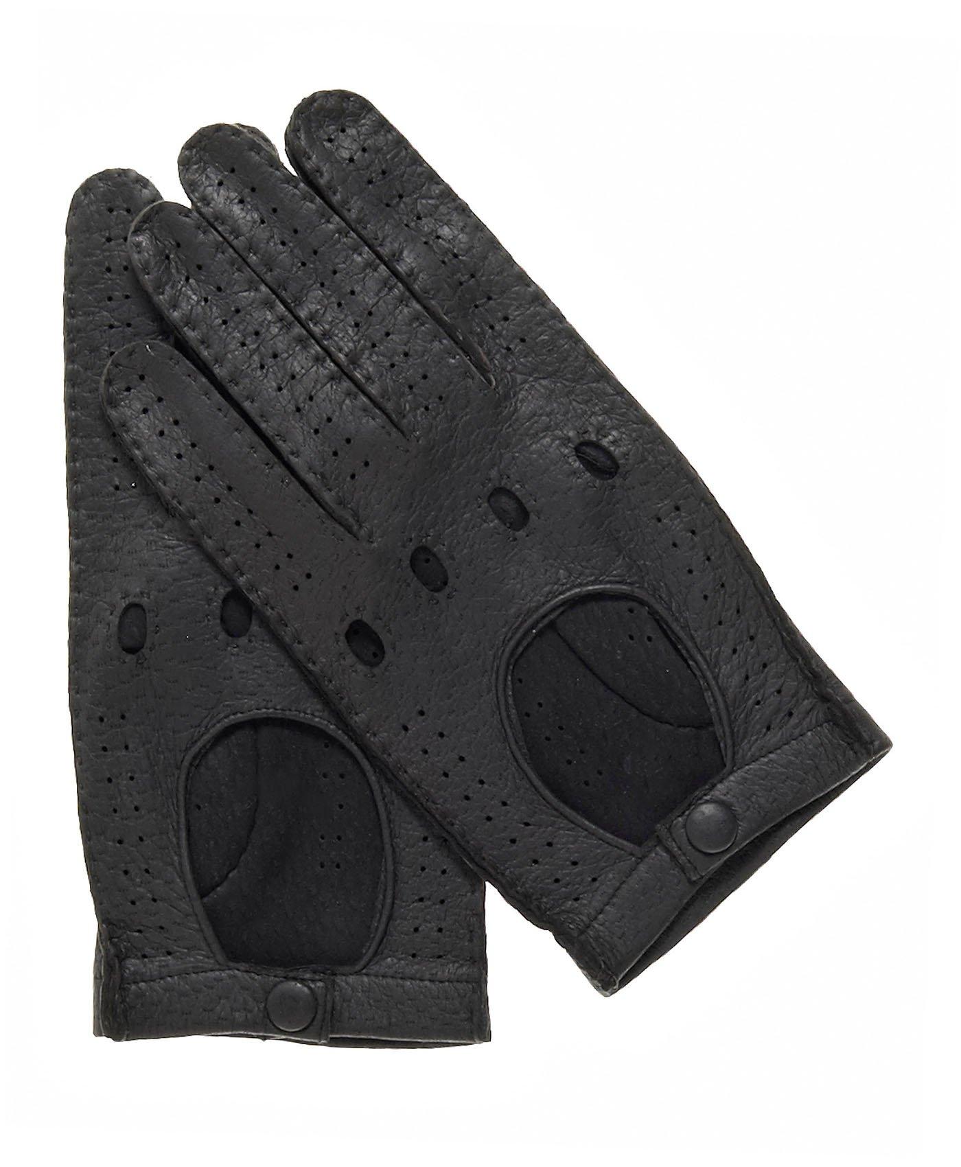 Fratelli Orsini Men's Handsewn Italian Peccary Driving Gloves Size 9 Color Black