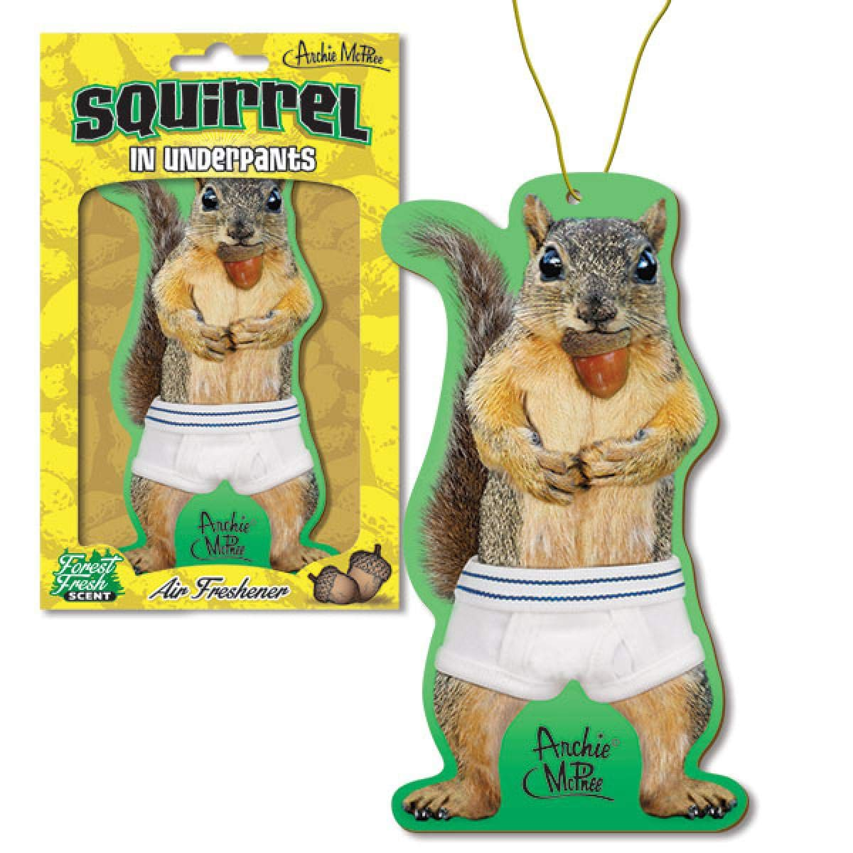 Squirrel In Underpants Deluxe Air Freshener Toy Zany 12542