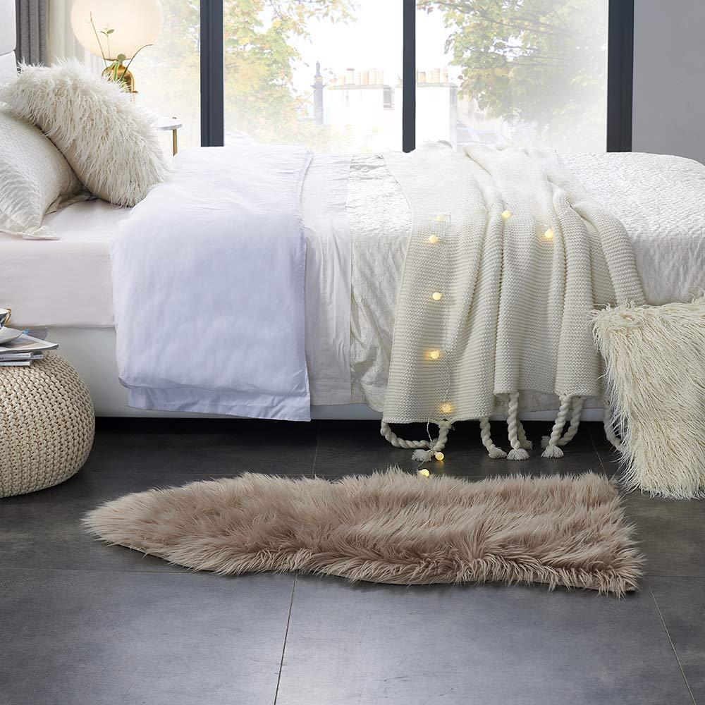 Amazon.com: Funda de silla de falsa piel de carnero, de lujo ...