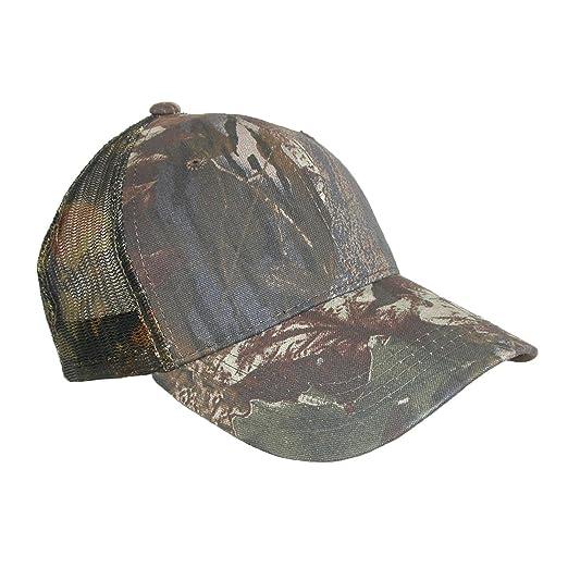 08564642 Mossy Oak Men's Cotton Camo Breathable Mesh Trucker Baseball Hat