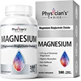 Magnesium Glycinate - Patented Bisglycinate Non Buffered Chelated Magnesium Supplement for Sleep, Muscle Cramps…