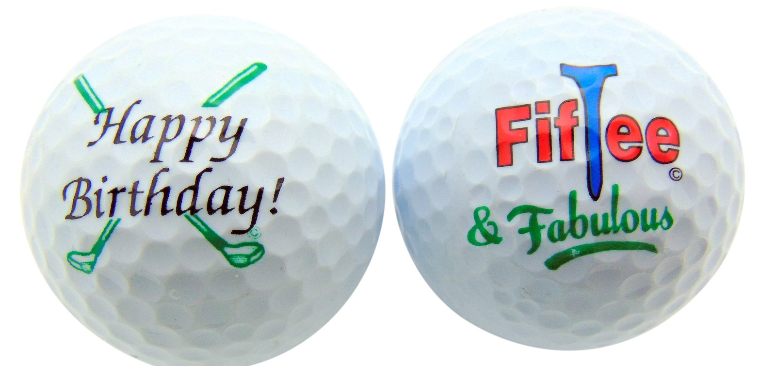 50th Birthday FifTee & Fabulous Set of 2 Golf Ball Golfer Gift Pack