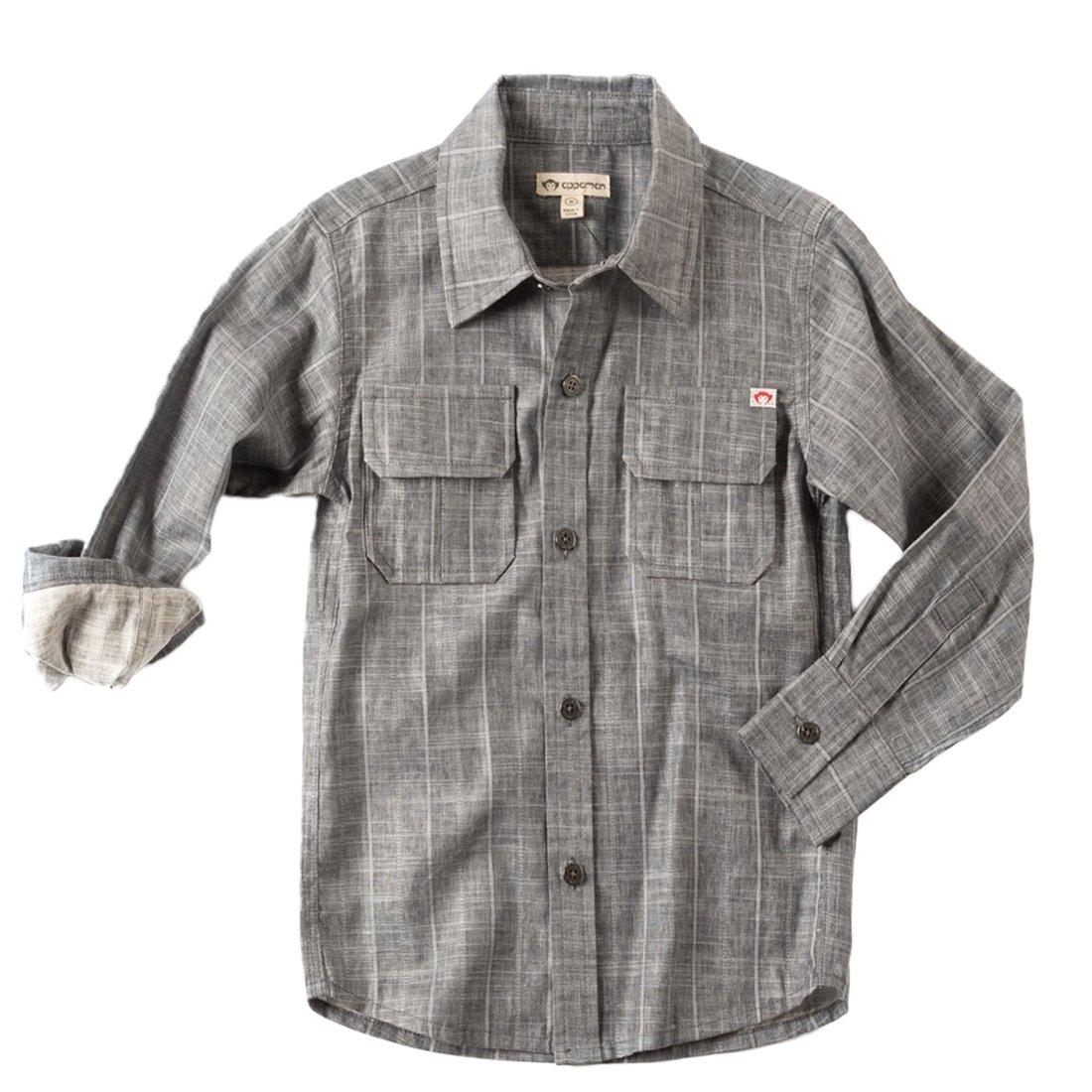 Appaman Boys' Little Mason Shirt, Slate Stripe 7