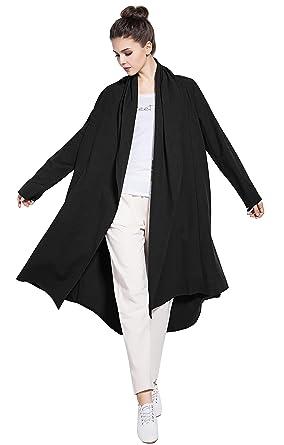 1f53eaf990 Anysize Soft Linen Cotton Cardigan Spring Fall Winter Coat Plus Size  Clothing Y80 Black