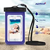 Homar® Universal Waterproof Case - Best in Water Sports Equipment - Floatable Dry Bag Pouch for Apple iPhone 6s, 6 Plus, Samsung Galaxy S6 Edge, BlackBerry Cell Phone up to 6 inches MP3, Keys etc.