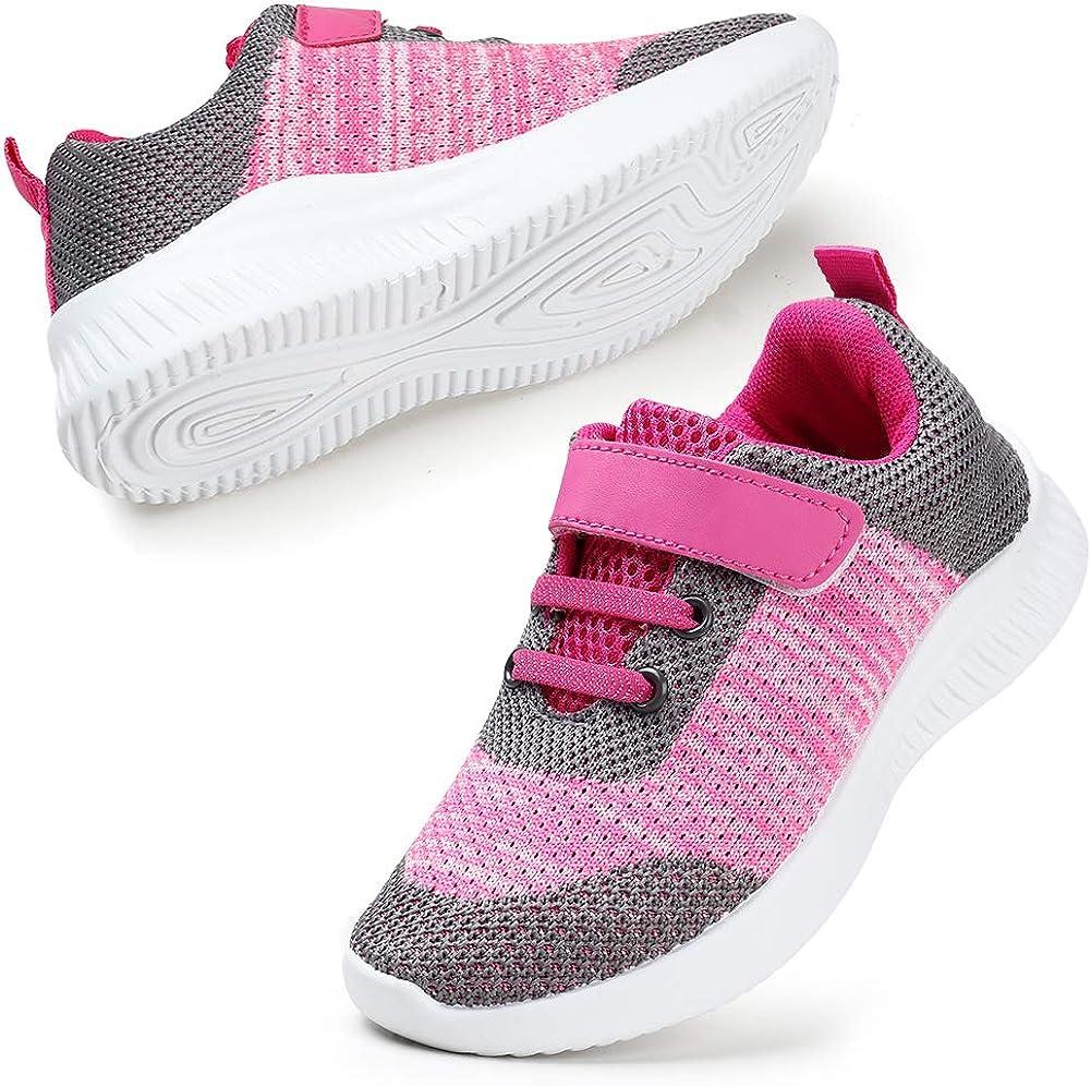 HKR Kid/'s Trainers Boys Girls Running Shoes Unisex Hook and Loop Walking Shoes Sports Tennis School Sneakers