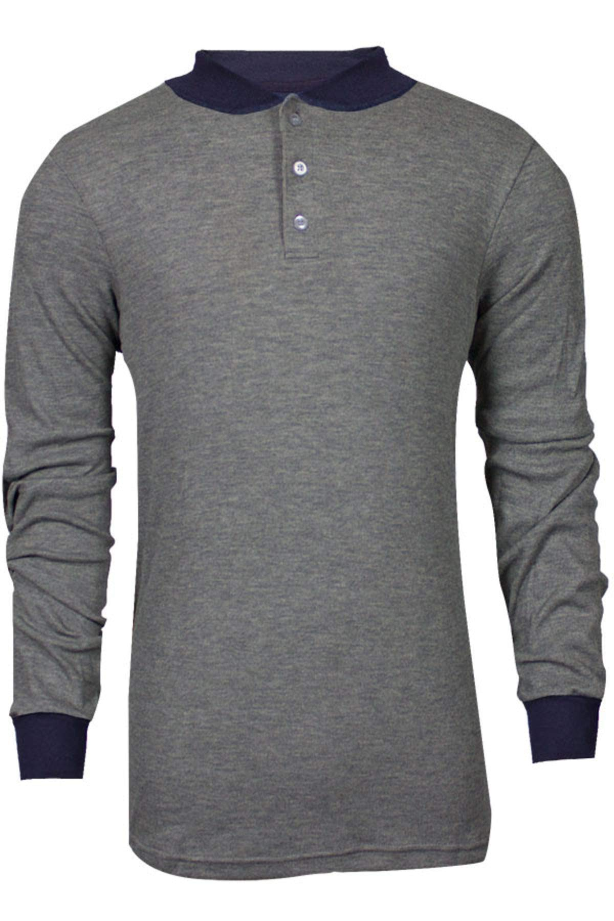 National Safety Apparel C541NGEBSLSMD TECGEN Select Long Sleeve FR Henley, Medium, Grey