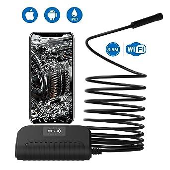 WiFi Endoscopio Ispezione Camera HD 1080P Periscopio Impermeabile Ispezione Snake Camera per iOS iPhone Android Phone Tablet PC 5 Metri