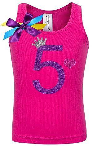 Bubblegum Divas Little Girls 5th Birthday Pink Princess Shirt 4