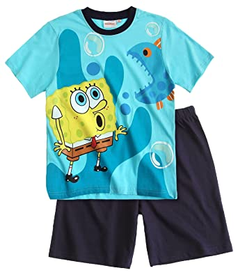 0f9a56af0 Amazon.com  Boys Spongebob Squarepants Pajamas Kids Cotton Pjs Set ...