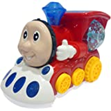 Popsugar 3D Light Train Engine with Very Cute Music and Lighting Effects, Red