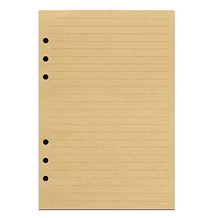 AnCICRAFT: Folios en blanco o de rayas de recambio con 6 ...
