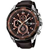 Casio Men's Dial Leather Band Watch - EFR-539L-5AVUDF