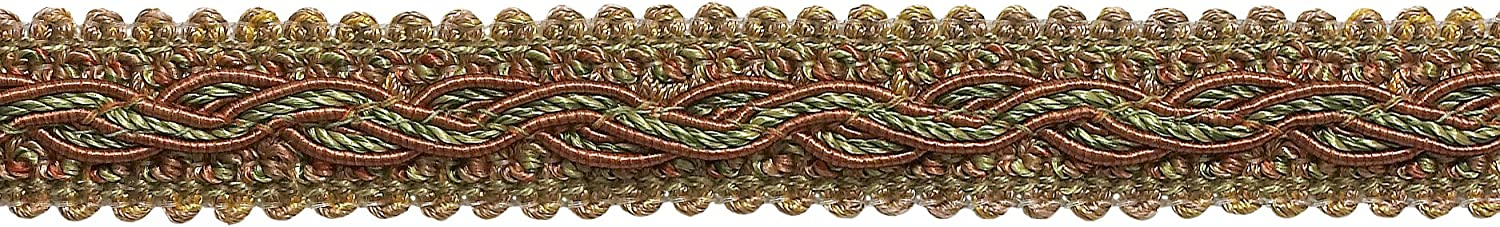 Terracotta Baroque Collection Gimp Braid 7//8 inch Style# 0078BG Color: Chaparral Light Bronze D/ÉCOPRO 7 Yard Pack Olive Green 5615