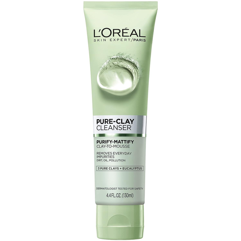 33782e24173 Amazon.com: L'Oréal Paris Skincare Pure-Clay Facial Cleanser with ...