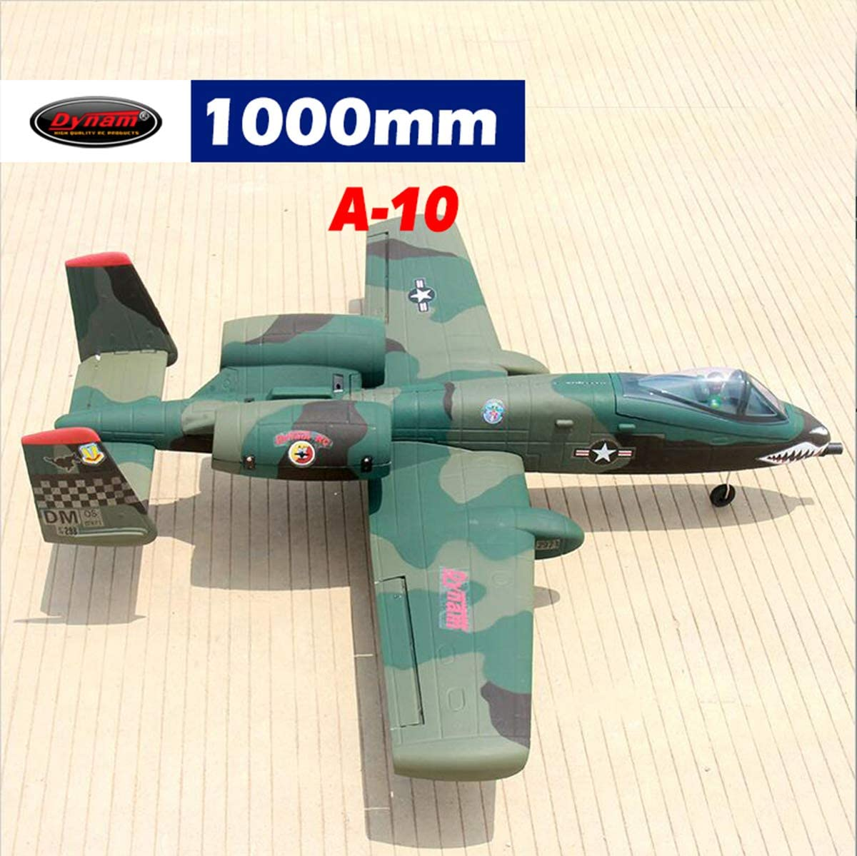 DYNAM RC Airplane A-10 Thunderbolt Desert 64mm EDF Jet PNP