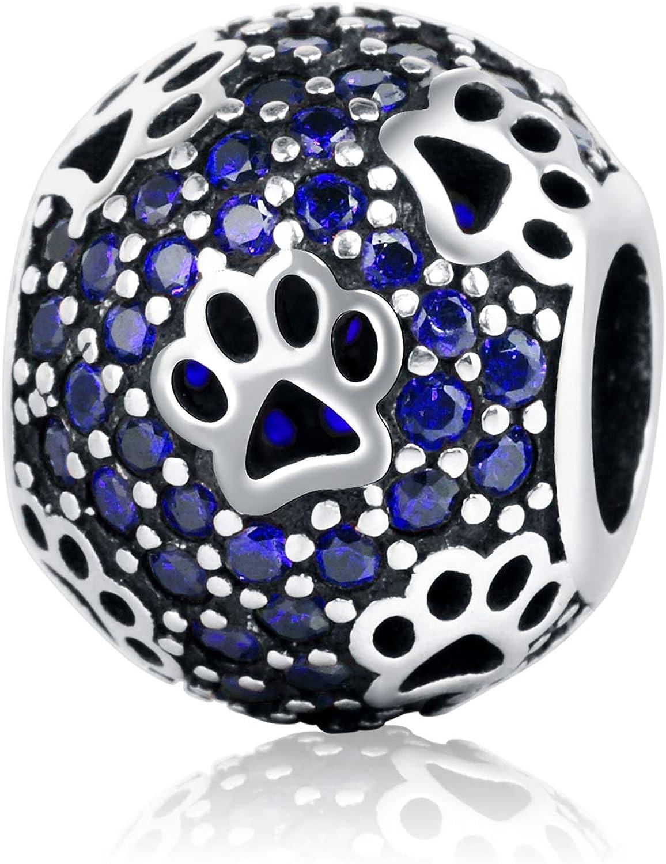 JIAYIQI Chat Chien Patte Charmes en Argent Sterling Femmes Bracelets Charmes pour La Fabrication De Bijoux