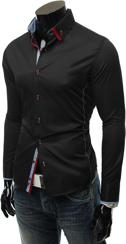 ozonee – Camisa de manga larga Ocio Camisa Cuadros ...