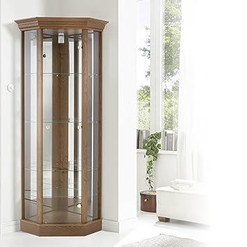 Fantastic Corner Cabinet With Pelmet Glass Display Case Light Oak Dark Oak Or Mahogany Moveable Glass Shelves Hologen Light Dark Oak Download Free Architecture Designs Rallybritishbridgeorg