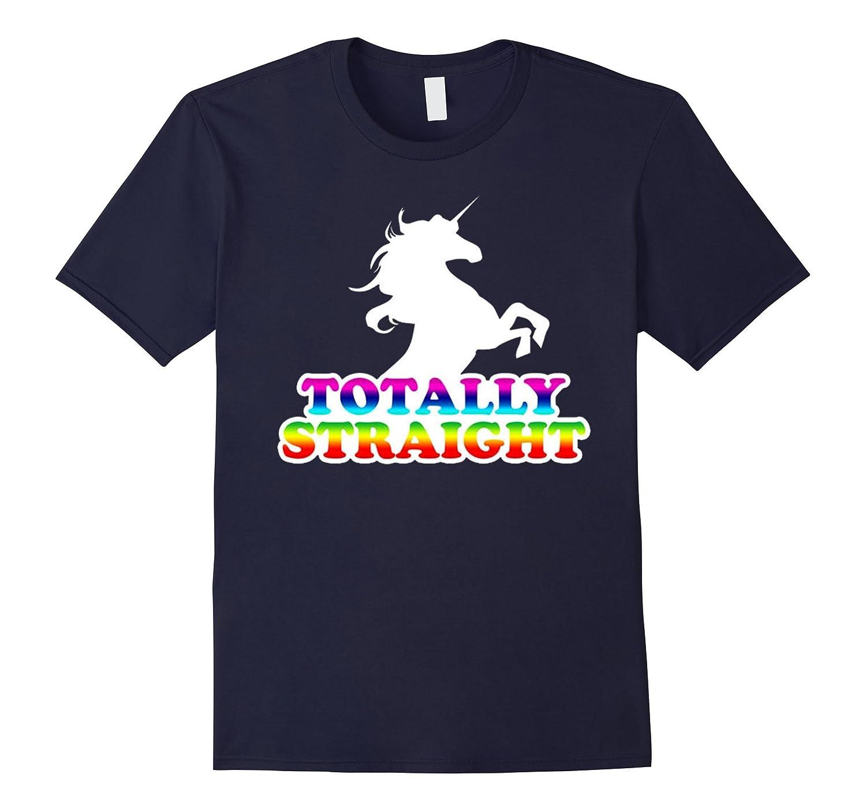 AW Fashions Totally Straight - Gay Pride Premium T-shirt-RT