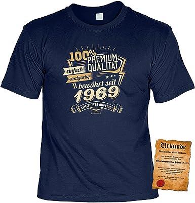 T Shirt 50 Geburtstag Geburtstagsshirt Spruche Jahrgang 1969 100