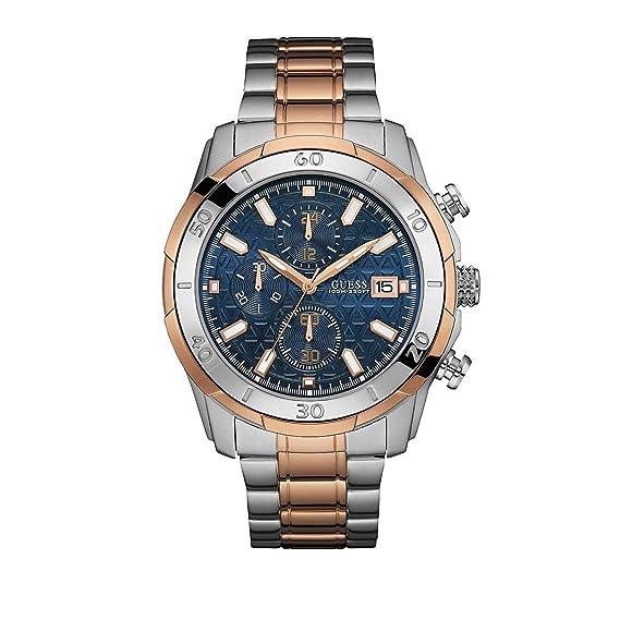 Guess Reloj analogico para Hombre de Cuarzo con Correa en Acero Inoxidable W0746G1: Amazon.es: Relojes