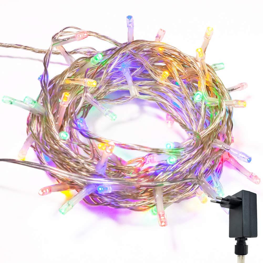 Catena Luminosa Stringa Luci WISD Con 8 Modalità, Funzione Di Memoria, Decorativa Da Interni e Esterni, Bassa Tensione, 102.8M 1000 LED Catena Luci Per Casa / Natale / Giardino / Feste - Bianco