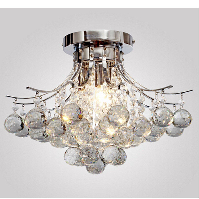 ALFRED® Kronleuchter moderne Kristall 3 leuchtet, Mini Style Putz ...