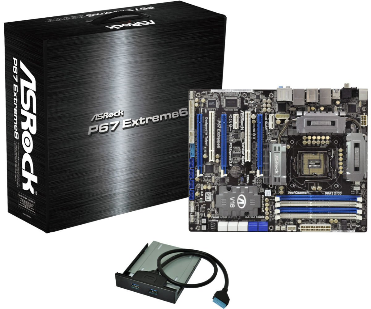 Amazon com: ASRock P67 Extreme6 B3 Intel P67 ATX DDR3 2133
