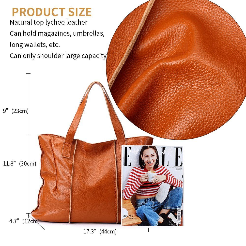 malluo Women Handbags Hobo Shoulder Bags Tote Leather Handbags Fashion Large Capacity Bags (yellow) by Malluo (Image #7)