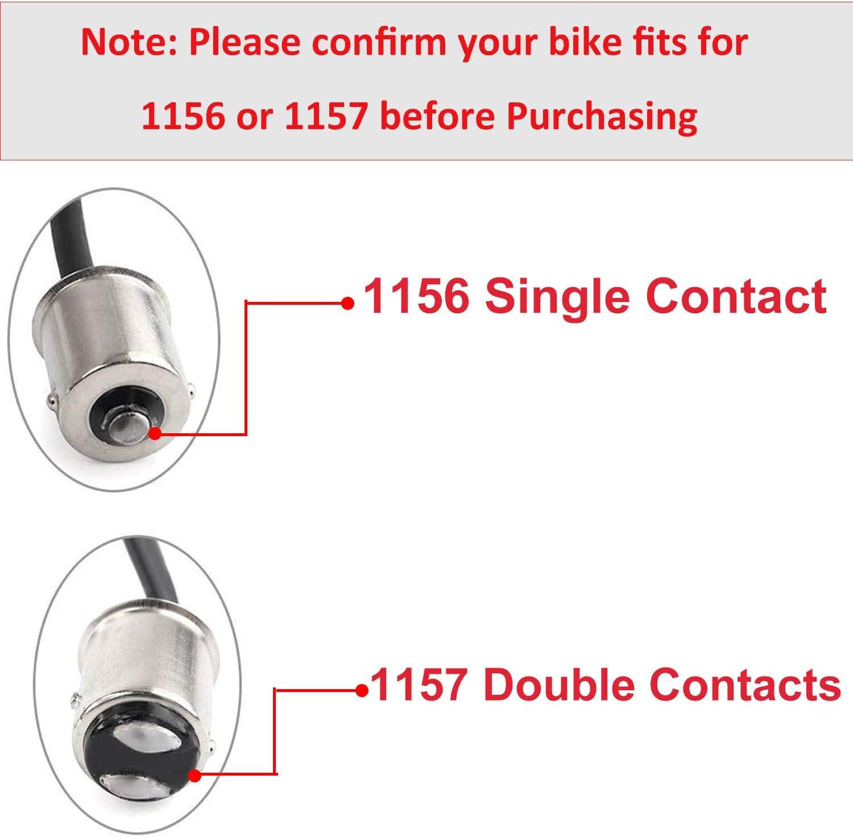 CICMOD Bullet Style Indicatori di Direzione Posteriori 1156 Luce del Freno Luce Corrente Rosso per Harley con Lenti Fumo