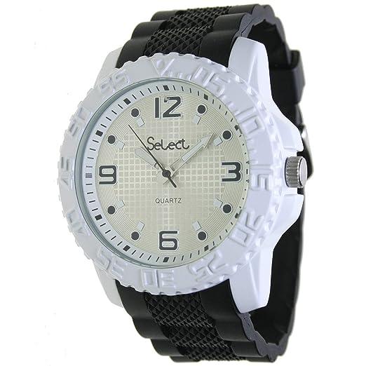 Select Fr-25-3 Reloj Analogico para Hombre Caja De Metal Esfera Color Plateado: Amazon.es: Relojes
