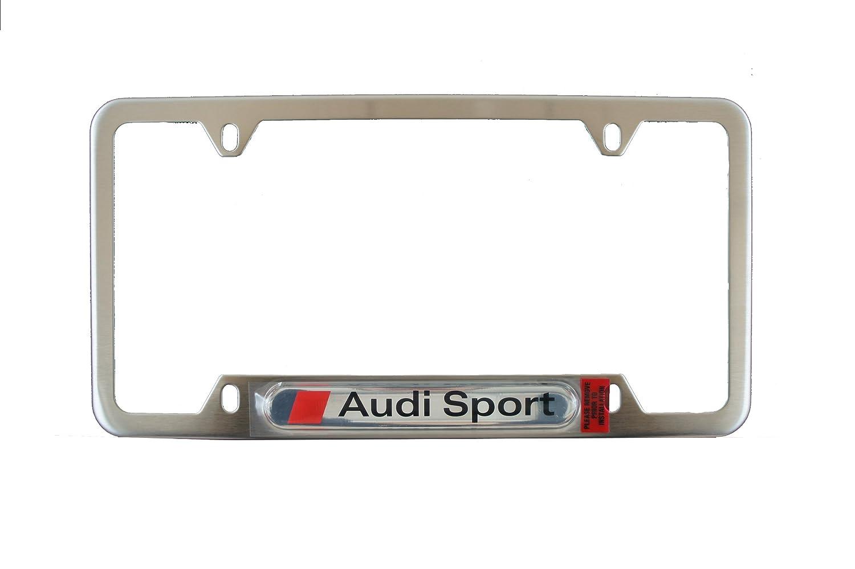 Genuine Audi Accessories ZAW355040A License Plate Frame Kit with Sport Logo Audi Genuine Accessories