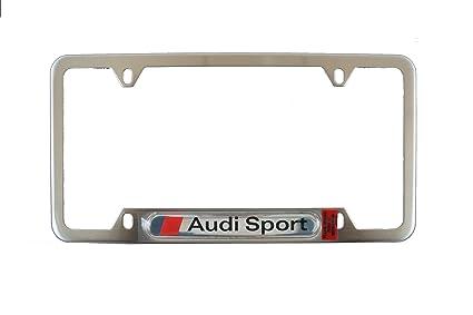 Amazon.com: Genuine Audi Accessories ZAW355040A License Plate Frame ...