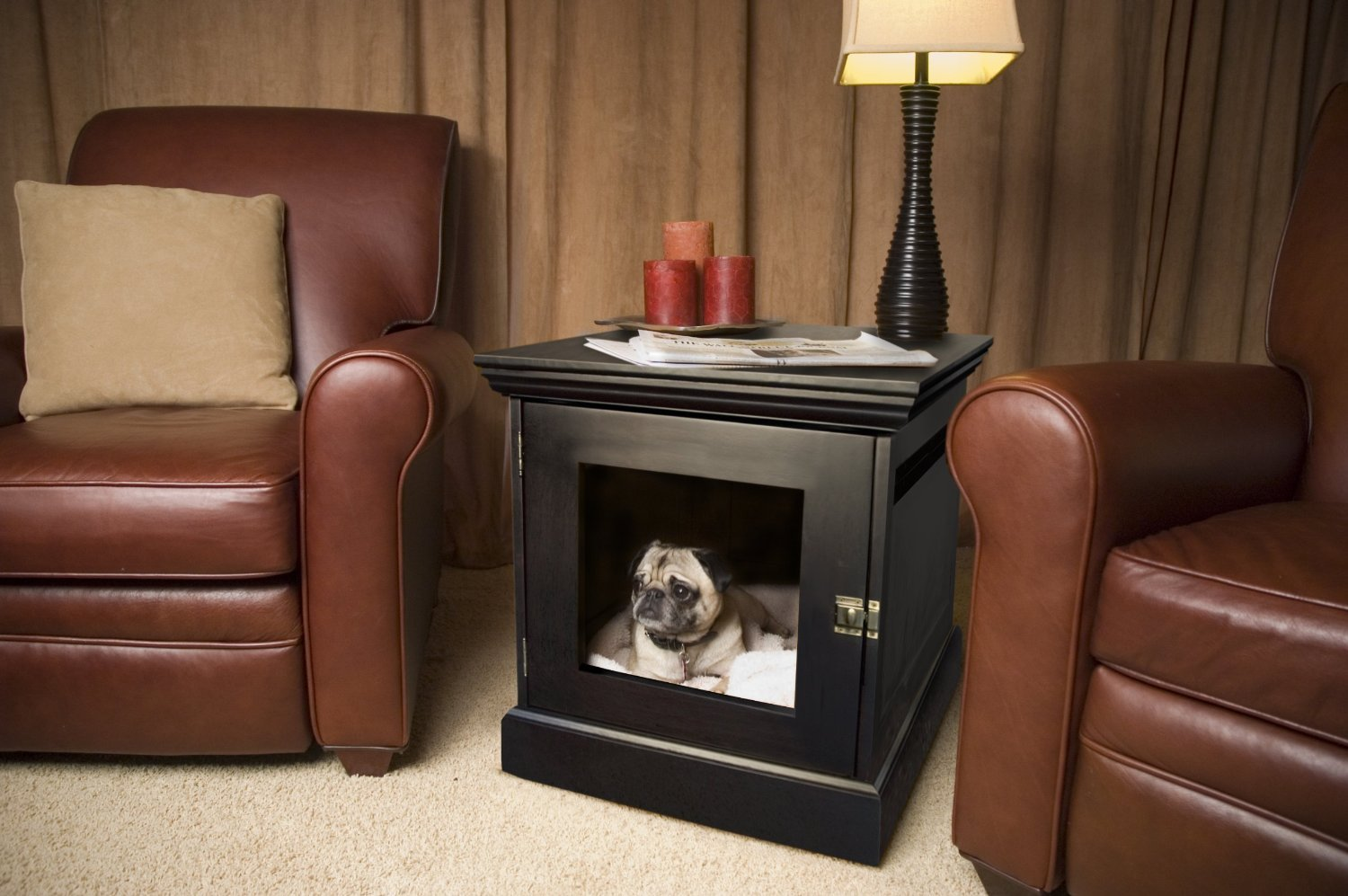 Amazon denhaus townhaus indoor dog house and end table amazon denhaus townhaus indoor dog house and end table espresso large pet crates pet supplies geotapseo Image collections
