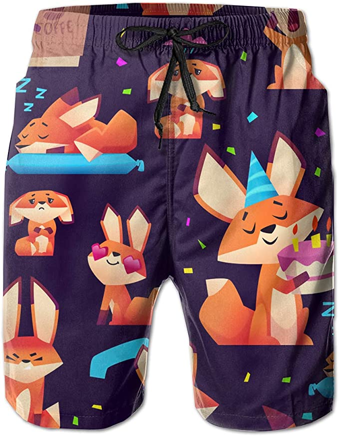 Men/'s Swim Trunks Cute Animals Beach Board Shorts Swimming Short Pants Running Sports Surffing Shorts