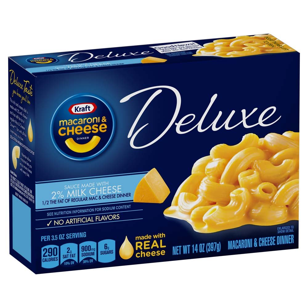 Kraft Deluxe Macaroni And Cheese Dinner  Original With 2