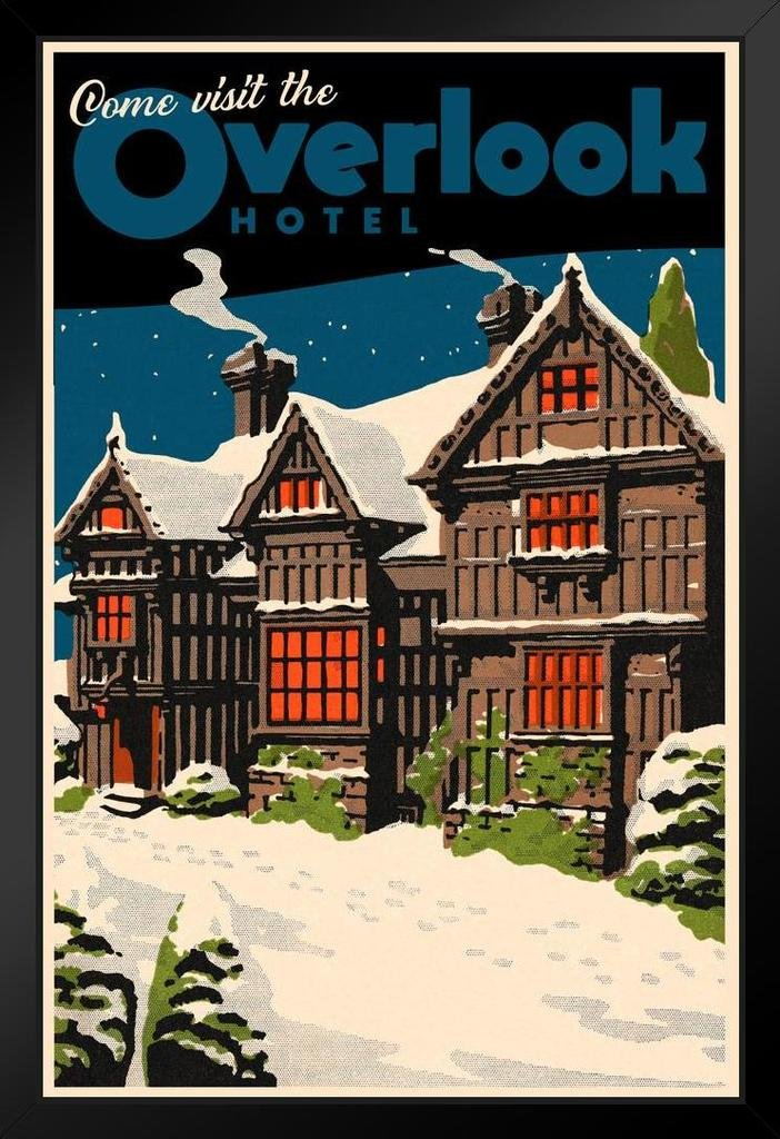 Overlook Hotel Vintage Travel Framed Poster 14x20 inch