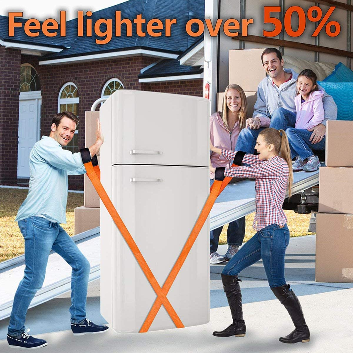 Appliances Mattresses 2 Person Moving System with Wrist Protection Sponge Fore Arm Forklift Lifting Straps Fambasis Moving Back Strap Easily Carry Furniture or Any Heavy Object