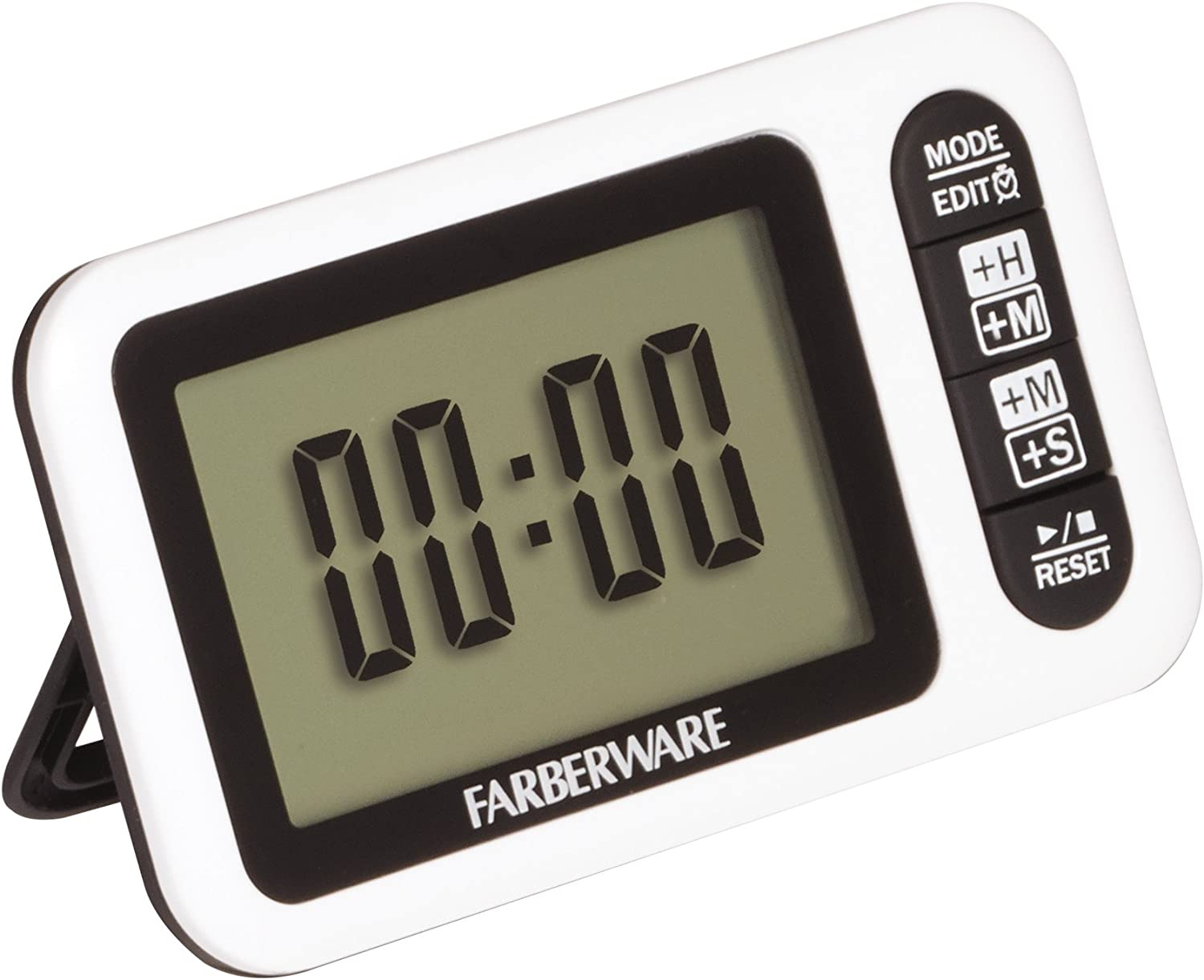 Amazon Com Farberware Large Digital Read Clock Timer One Size Black Kitchen Dining