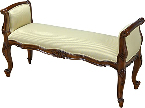 Niagara Furniture Window Bench or End of Storage Bench Crafted from Solid Mahogany Wood by NIAGARA FURNITURE NLR067
