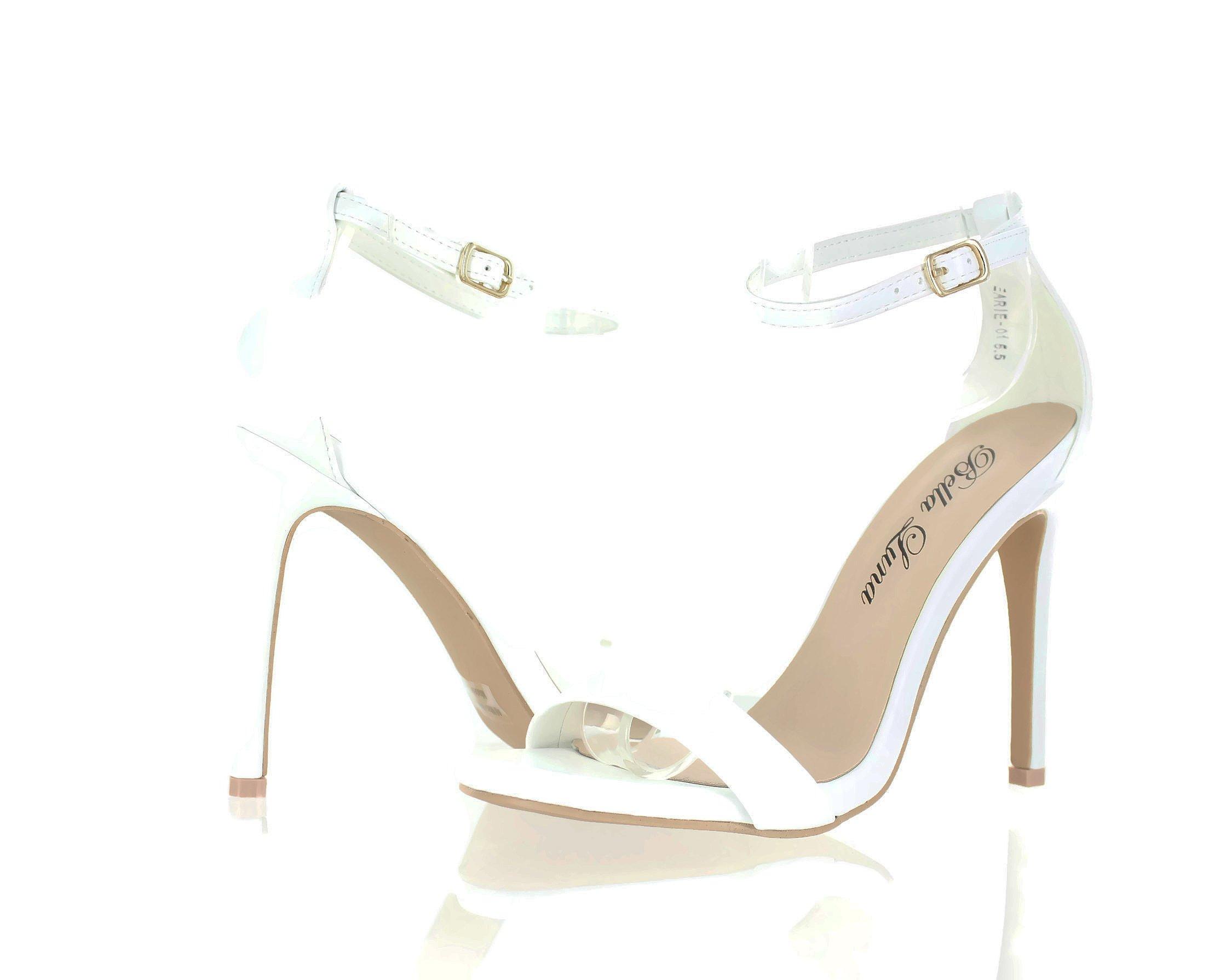 Urban Heel Metallic Ankle Strap Open Toe Stiletto Heel Premier Dream Comfort
