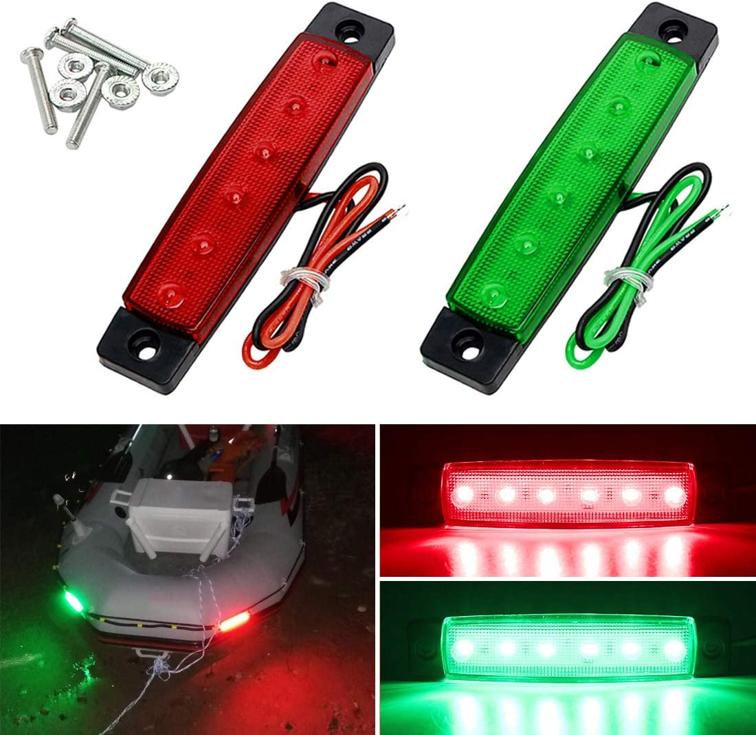 BOAT LED NAVIGATION LIGHTS KIT 3 Nav Light Package Port Starboard 12v 360 Black