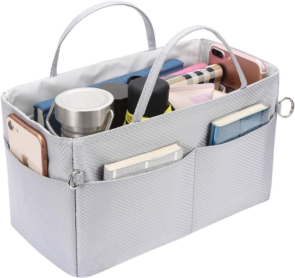 Dunkelblau SHINGONE 13 Taschen Nylon Handtasche Geldb/örse Organizer Insert mit Rei/ßverschluss Lightweight Tote Travel Bag Insert Organizer f/ür Frauen